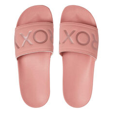 Roxy Slippy Womens Slides Rose US 10, Rose, rebel_hi-res