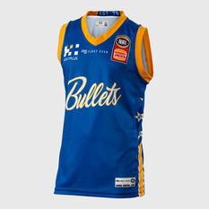 Brisbane Bullets 2018 / 19 Kids Home Jersey Blue 8, Blue, rebel_hi-res