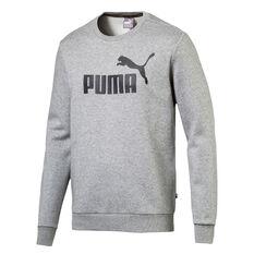 Puma Mens Essential Crew Sweater, Grey, rebel_hi-res