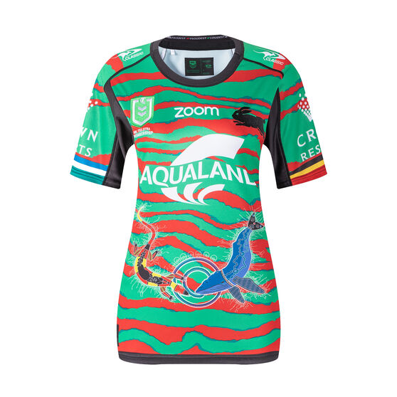 South Sydney Rabbitohs 2021 Womens Indigenous Jersey, Green, rebel_hi-res