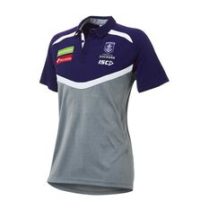 Fremantle Dockers 2018 Mens Performance Polo Shirt, , rebel_hi-res