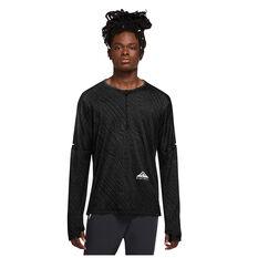 Nike Mens Dri Fit Element Longsleeve Top Black S, Black, rebel_hi-res