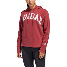 adidas Womens Post Game Arch Hoodie, Red, rebel_hi-res