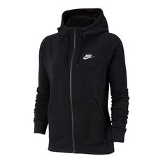 Nike Womens Sportswear Essentials Full Zip Hoodie Black XS, Black, rebel_hi-res