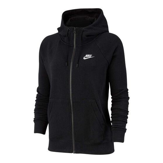 Nike Womens Sportswear Essentials Full Zip Hoodie, Black, rebel_hi-res