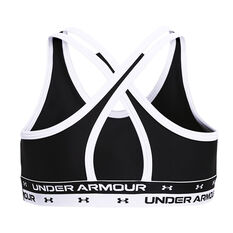 Under Armour Girls Heatgear Crossback Sports Bra Black XS, Black, rebel_hi-res
