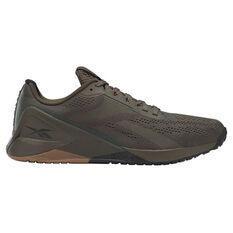 Reebok Nano X1 Mens Training Shoes Green/Black US 7, Green/Black, rebel_hi-res