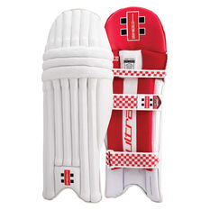 Gray Nicolls Ultra 800 Junior Cricket Batting Pads White / Red Youth Right Hand, White / Red, rebel_hi-res