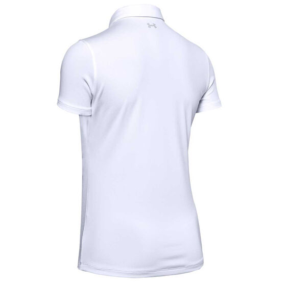 Under Armour Womens Zinger Golf Polo, White, rebel_hi-res