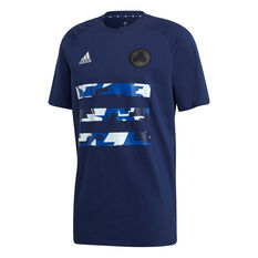 adidas Mens TAN Graphic Football Tee Navy S, Navy, rebel_hi-res