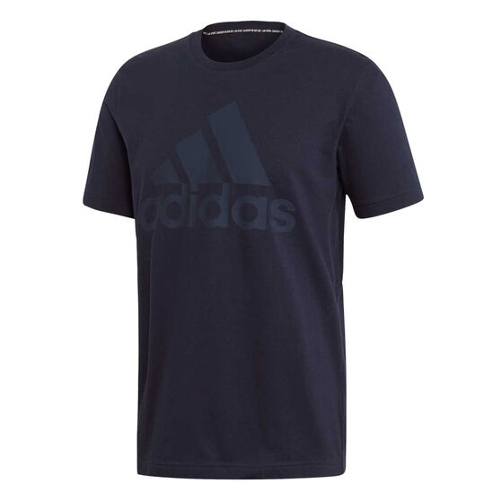 adidas Mens Must Haves Badge of Sport Tee, Navy, rebel_hi-res