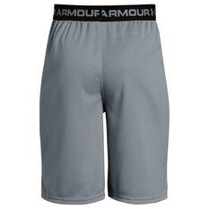 Under Armour Boys Tech Prototype 2 Shorts Grey / Black XS, Grey / Black, rebel_hi-res