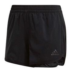 adidas Girls Training Marathon Shorts Black 6, Black, rebel_hi-res