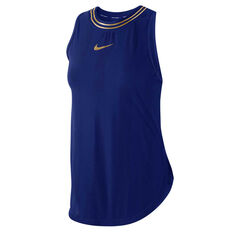 Nike Womens Glam Dunk Running Tank Blue XS, Blue, rebel_hi-res