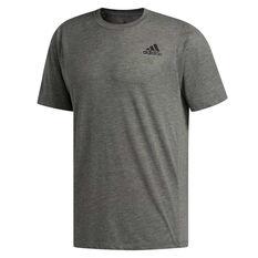 adidas Mens FreeLift Sport Prime Heather Tee Grey XS, Grey, rebel_hi-res