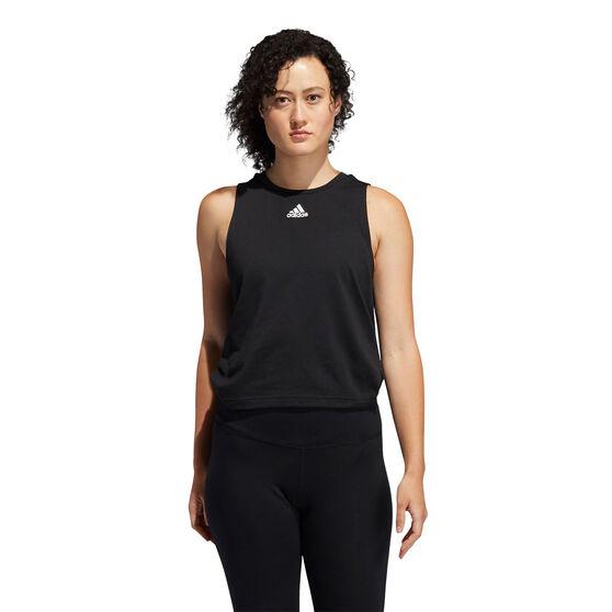 adidas Womens Double Twist Tank Black XL, Black, rebel_hi-res