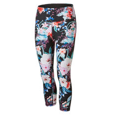 Ell & Voo Womens Tessa 3 / 4 Printed Tights Print XS, Print, rebel_hi-res
