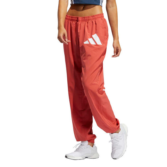 adidas Womens Woven Badge Of Sport Training Pants, Red, rebel_hi-res