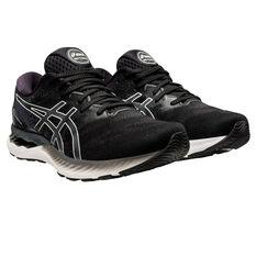Asics GEL Nimbus 23 2E Mens Running Shoes, Black/White, rebel_hi-res