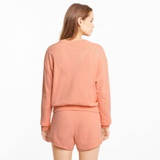 Puma Womens Modern Basics Sweater, Orange, rebel_hi-res