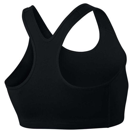 Nike Womens Swoosh Sports Bra Plus, Black / White, rebel_hi-res