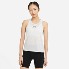 Nike Womens City Sleek Trail Running Tank Grey XS, Grey, rebel_hi-res