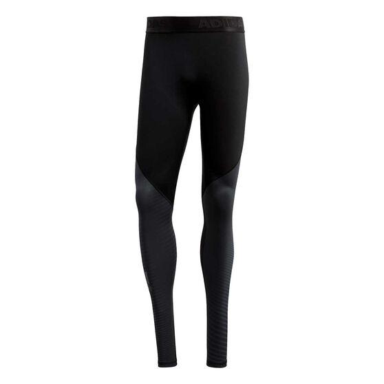 adidas Mens Alphaskin Sport Long Compression Tights, Black, rebel_hi-res
