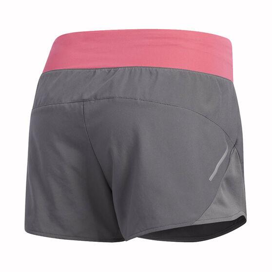 adidas Womens Run It 3in Shorts, Grey / Pink, rebel_hi-res