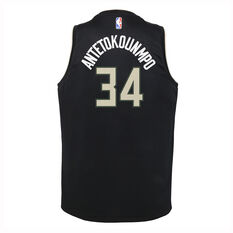 Nike Milwaukee Bucks Giannis Antetokounmpo 2019/20  Statement Edition Swingman Jersey Black S, Black, rebel_hi-res
