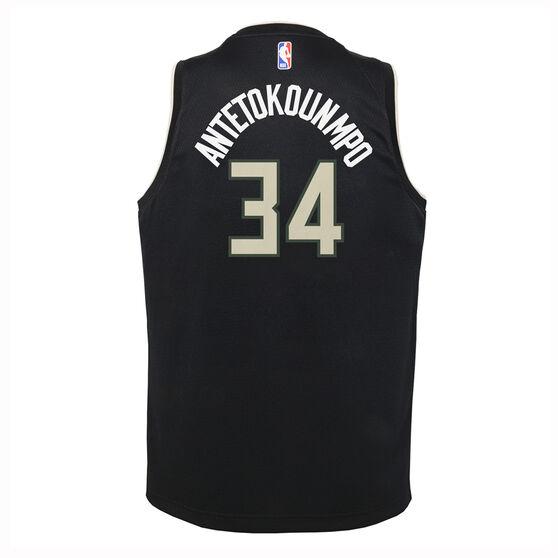 Nike Milwaukee Bucks Giannis Antetokounmpo 2019/20  Statement Edition Swingman Jersey, Black, rebel_hi-res