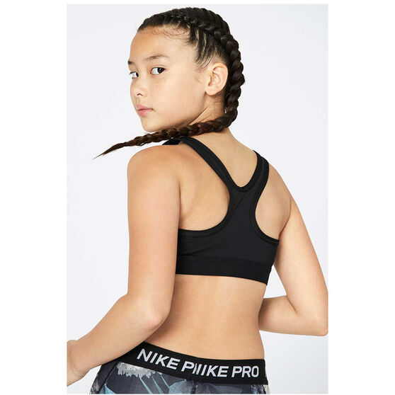 Nike Girls Pro Classic Sports Bra, Black, rebel_hi-res
