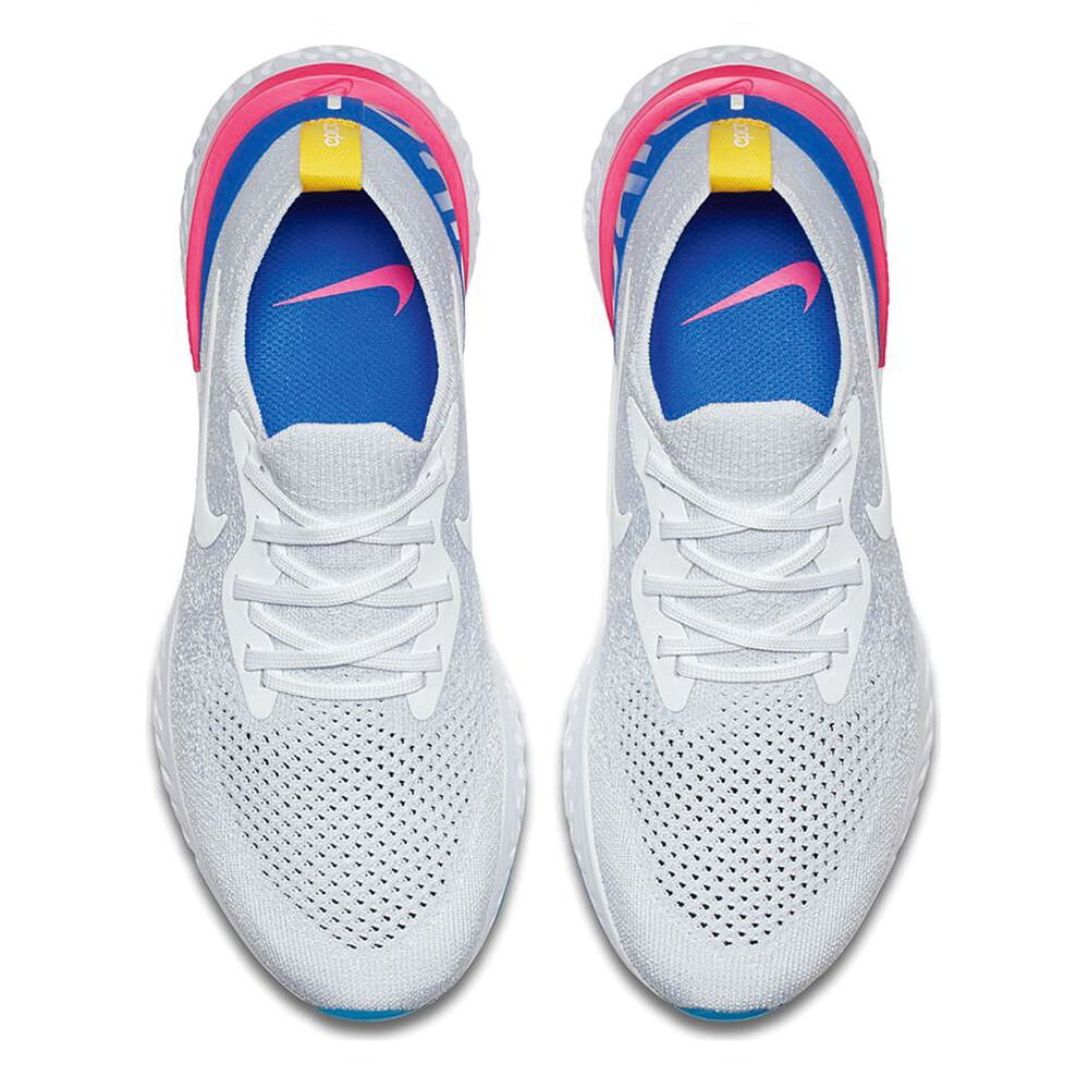 f891b0e79ce91 Nike Epic React Flyknit Womens Running Shoes White   Blue US 7 ...