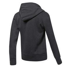 Under Armour Womens UA Rival Fleece Logo Hoodie Black XS, Black, rebel_hi-res