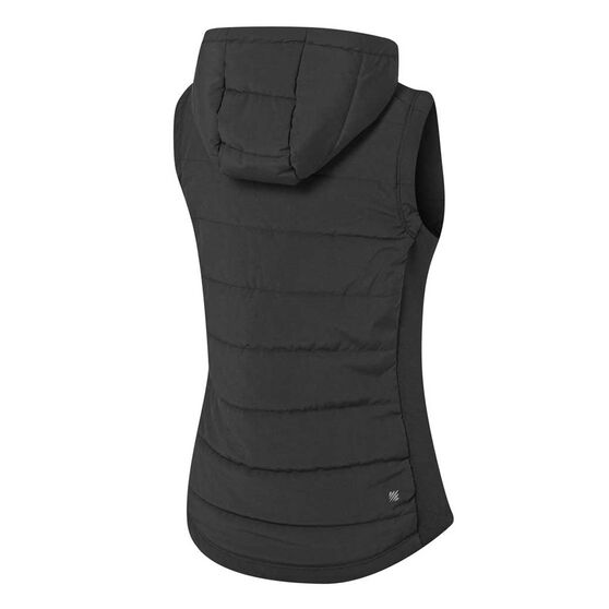 Ell & Voo Womens Masey Quilted Vest, Black, rebel_hi-res