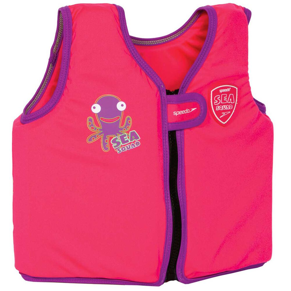 Speedo Sea Squad Junior Girls Float Vest Pink 1 - 2  b8e9e6d54