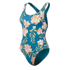 Roxy Girls Summer Of Surf Swimsuit Blue 12, Blue, rebel_hi-res