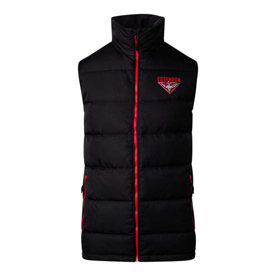 Essendon Bombers 2020 Mens Down Vest, Black, rebel_hi-res