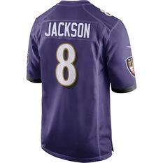 Baltimore Ravens Lamar Jackson 2020 Mens Jersey Purple S, Purple, rebel_hi-res