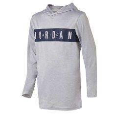 Nike Boys Jordon Air Hooded Top White S, White, rebel_hi-res