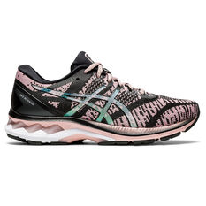 Asics GEL Kayano 27 Material Knit Womens Running Shoes Black/Pink US 6, Black/Pink, rebel_hi-res