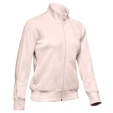 Under Armour Womens UA Double Knit Track Jacket Pink XS, Pink, rebel_hi-res