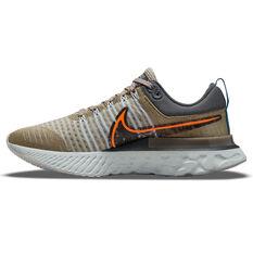 Nike React Infinity Run Flyknit 2 Mens Running Shoes White/Orange US 7, White/Orange, rebel_hi-res