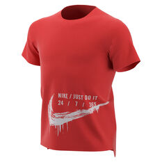 55d508b01 Nike Boys Breathe Hyper Dry Tee Red / White XS, Red / White, ...