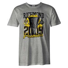 Richmond Tigers Premiers 2019 Mens Tee Grey S, Grey, rebel_hi-res