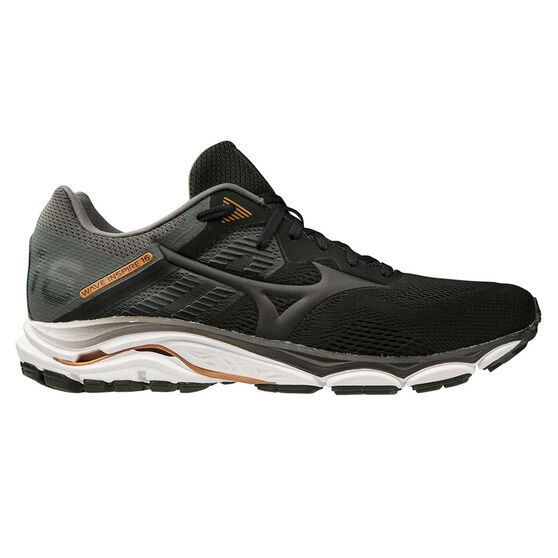Mizuno Wave Inspire 16 2E Mens Running Shoes, Black / White, rebel_hi-res