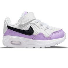 Nike Air Max SC Toddlers Shoes White/Purple US 2, White/Purple, rebel_hi-res