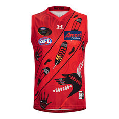 Essendon Bombers Mens 2021 Indigenous Guernsey Red S, Red, rebel_hi-res