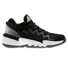 adidas D.O.N. Issue #2 Mens Basketball Shoes Black/White US 7, Black/White, rebel_hi-res