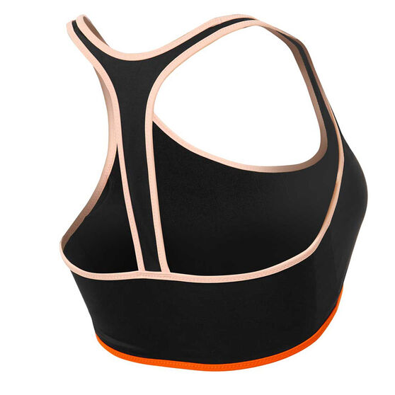 Roxy Womens Fitness Sports Bra Bikini Top, Black, rebel_hi-res