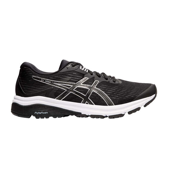 Asics GT 1000 8 Womens Running Shoes, Black / Silver, rebel_hi-res